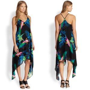 Milly Silk Tropical Handkerchief Dress